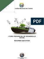 Foro Provincial de Desarrollo Social
