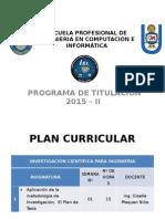 Titulación 2015-II Presentación