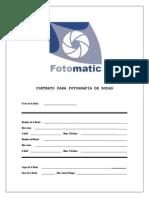 Contrato de Bodas Fotomatic