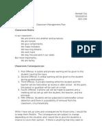 initial management plan