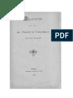 Gonnella Baruch, Relatione del Principe di Corcumello ai suoi dominii, Roma 1880 (tip. Forzani)