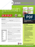 NATURLIGA 100% PLANT BASED PROTEIN Product Data Sheet