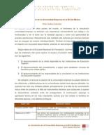 La Vinculacion de La Universidad Empresa en La Ies de Mexico