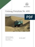 Unimog 2007 Price List