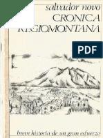 Crónica regiomontana Salvador Novo