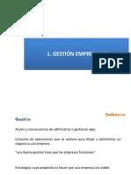 1.- Definición Gestión Empresarial