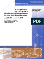 Development of an Operations and Maintenance Cost Model to Identify Cost of Energy Savings for Low Wind Speed Turbines