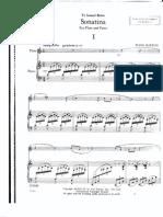 Burton, E Flute Sonatina Score