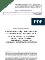 Sociabilidades, liderazgos e identidad en los grupos católicos argentinos