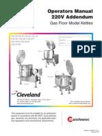 (Kettles Floor Gas) 220V Cleveland