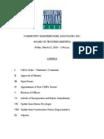 CMPA Board Meeting Agenda 3-12-10