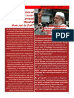 Death Sentence of Jamaat Leader  Ali Ahsan Mohammad Mujahid  How Just is that?