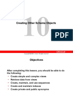 Creating Other Schema Objects