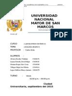 Laboratorio Física General Informe 02 UNMSM