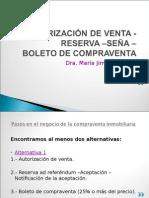 Cucicba Autorización -Reserva -Seña - Boleto