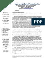 Open Letter to Senator Ferdinand Marcos, Jr.
