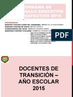 informe 2015  programa de desarrollo psicoafectivo  1