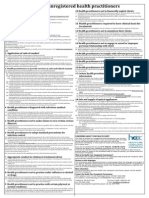 code of conduct unregistered health practitioners - poster - 2012 regulation