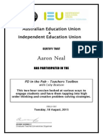 certificate of participation - teachers toolbox