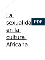 SEXUALIDAD AFRICANA