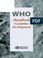 2012 WHO Handbook for Guideline Development