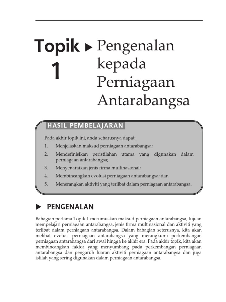 introduction to international trade pdf
