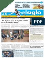 Edicion Impresa Elsiglo 25 de Octubre de 2015