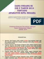 UU Nomor 5 Tahun 2014 Tentang ASN-27!01!2014