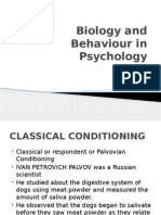 Biology and Behaviour in Psychology