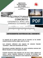 Antecedentes del concreto