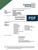 Governing body agenda for Thursday 29th October 2015