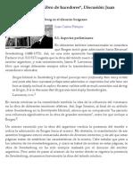 La degradación de Swedenborg en el discurso borgeano