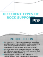 Types Of Rock Supports in Design Of Underground Structures