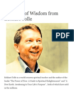 30 Pearls of Wisdom From Eckhart Tolle