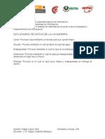 DICCIONARIO DE DATOS DE LA LAVANDERÍA