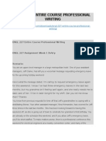 Engl 227 Entire Course Professional Writing