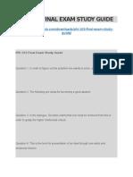 Phi 103 Final Exam Study Guide