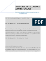 Psy 301 Emotional Intelligence Complete Class