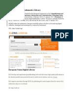European Digital Libraries Ces