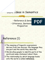 Basic Ideas in Semantics