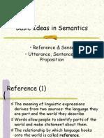 Basic Ideas in Semantics