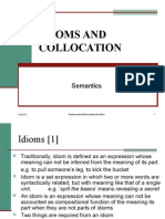 Idioms and Collocation