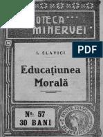 Educatiunea Morala IOAN SLAVICI