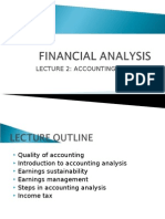 Lecture 2 - Accounting Analysis 1