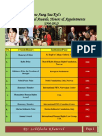 Aung San Suu Kyi's International Awards, Honors & Appointments