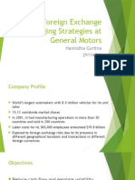 Foreign Exchange Hedging Strategies at General Motors