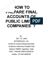 How to Prepare Final Accounts of Public Limited Companies