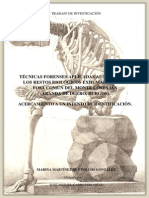 2011- Tecnicas Forenses Aplicadas Al Estudio de Los Restos Biologicos Exhumados de La Fosa Comun Del Monte Burgos