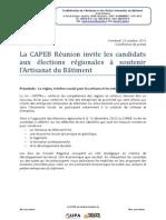 Capeb Elections Regionales 2015