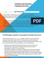 Strategi Pemasaran Dan Bauran Pemasaran 4P-Marketing Mix